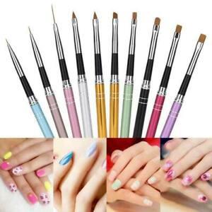 Set-10-Pcs-Nail-Art-Dessin-Stylo-Ongle-Pinceau-Brosse-Peinture-UV-Manucure