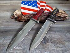 2 x cuchillo de caza cuchillo Knife Bowie busch cuchillo coltello cuchillo couteau huting