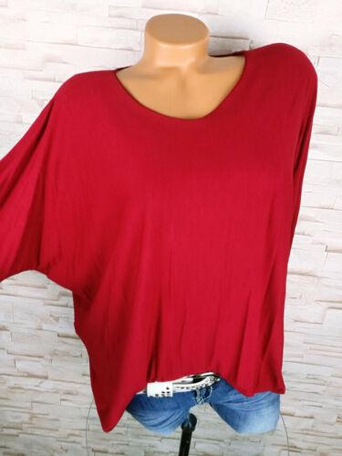 ♥ Italy Shirt Pullover Damen Pulli Viskose Fledermaus WEIN ROT 38 40 42 M L