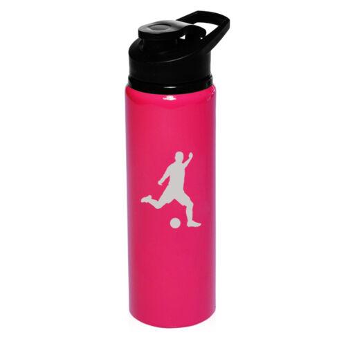 25oz Aluminum Sports Water Bottle Travel Soccer Player