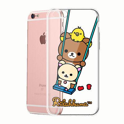 Rilakkuma Bear Silicone Case for iPhone 4 5 6 S plus Samsung Galaxy Note edge P4