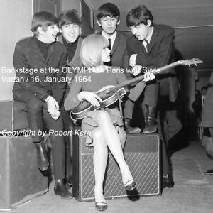 The Beatles Sylvie Vartan France Paris Olympia 1964 Photo 8x8 Ebay