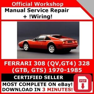 Factory Workshop Service Repair Manual Ferrari 308 Qv Gt4 328 Gtb Gts Wiring Ebay