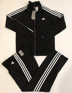 Nuevo Adidas para mujer 3-Stripe Chándal Conjunto Negro ...