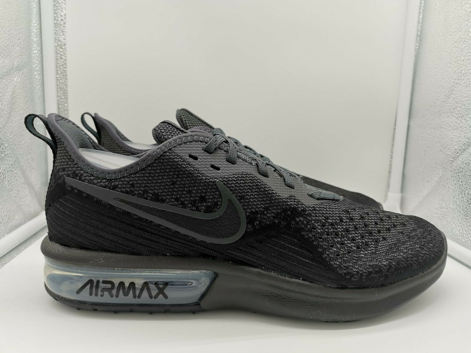 Nike Air Max Sequent 4 UK 10 Black Anthracite AO4485-002