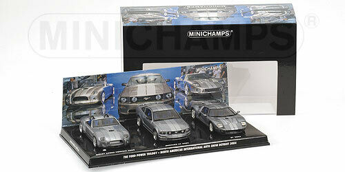 Ford Power Trilogy Set Cobra Mustang GT 2005, Minichamps 402058000 1 43rd scale