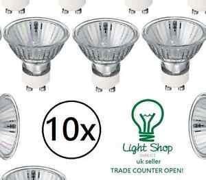 10 x GU10 50w or 35w Halogen spot light bulbs 220-240v