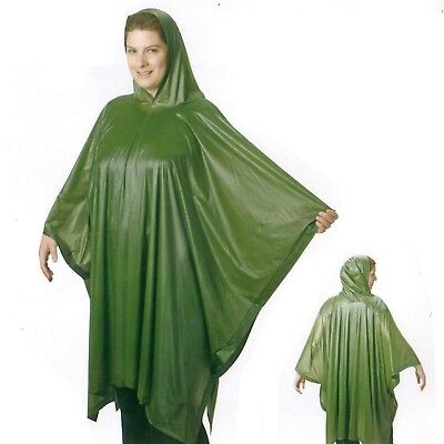 1x Disposable Raincoat Waterproof Emergency Poncho Cape Adult Camping Festival