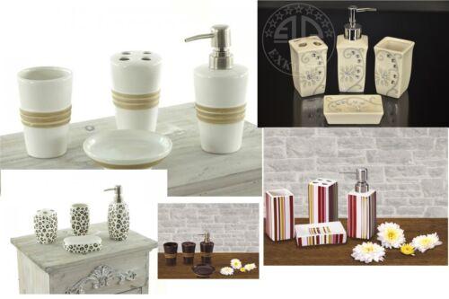 Bain set 4 pièces salle de bain distributeur de savon wc
