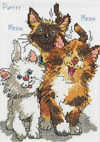 Cross Stitch Kit Suzy's Zoo / Janlynn Cattails Of Duckport Cats 038-0208