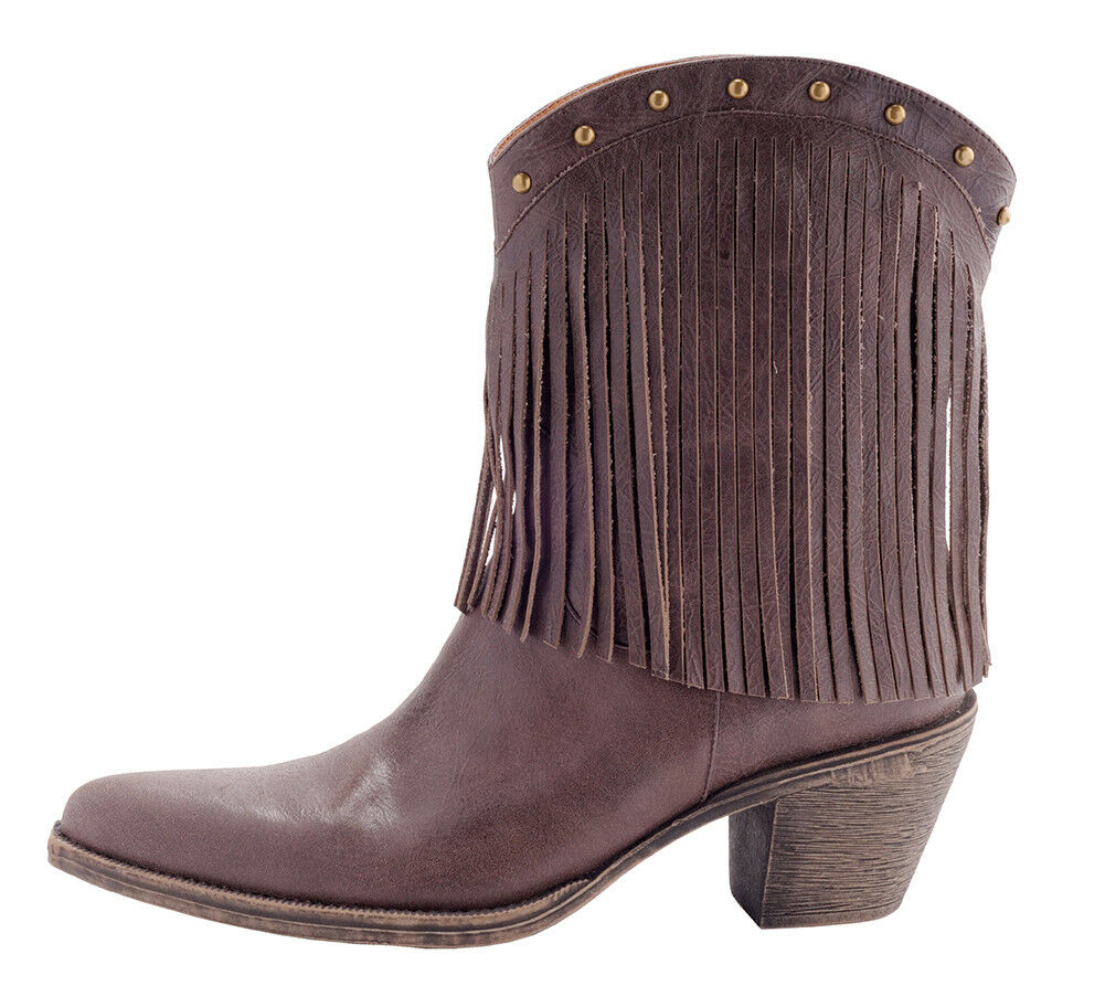 marron tassel cow  boy incliné botte, taille 11, cuir bottes en cuir 11, marron, 30f69b