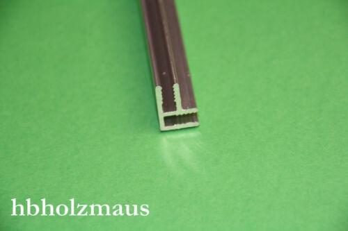 9,99 €//m Aluminium Eck Profile Pressblank für 3 mm Platten