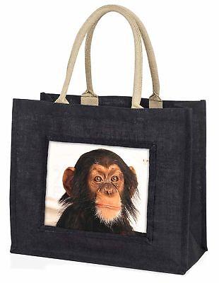 Schimpanse große schwarze Einkaufstasche Weihnachten Geschenkidee, am-1blb