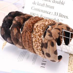 Women-Wide-Leopard-Cross-Knotted-Hairband-Headband-Bow-Hair-Hoop-Headwrap-Turban