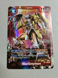 WarGreymon Alt Art | NM/M | BT1-025 SR | Digimon Card Game
