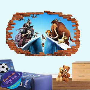 Image Is Loading Ice Age Animals Cartoon Wall Sticker Art