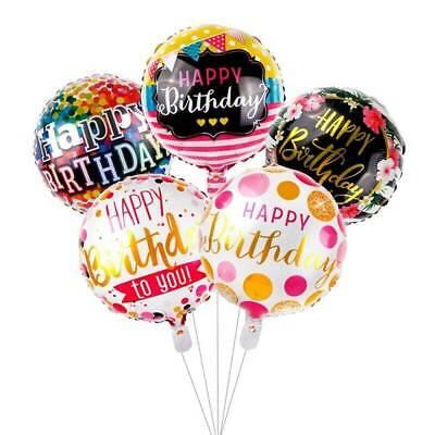 "5pcs Happy Birthday Anniversary Balloon 18/"" Foil Balloons Gender Reveal Ballons"