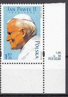 "Papst"".mi.nr: ? ** Eckrandstück 10 0156 Polen 2005 ""johannes Paul Ii GroßE Auswahl;"