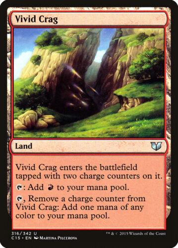 English, Commander 2015, Free P/&P MTG Vivid Crag