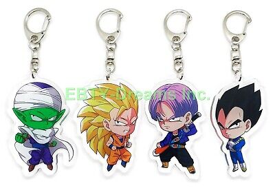 Set of 3 Dragon Ball Z DBZ Anime Acrylic Keychain Shenlong Shenron Son Goku