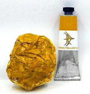 Indian Yellow (Hue) - Handmade Oil Paint - 37ml
