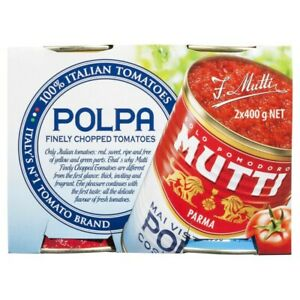 2-Pack-Mutti-Polpa-100-Finely-Quality-Chopped-Italian-Tomatoes-Canned-400g