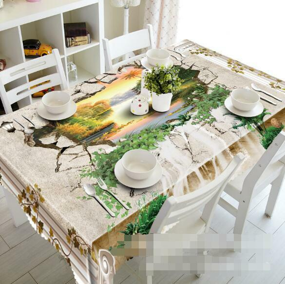 3D Hole River 208 Tablecloth Table Cover Cloth Birthday Party Event AJ WALLPAPER