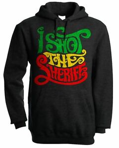 Rasta Rastfarian Bob Marley I Shot The Sheriff Reggae Full Zip Hoodie