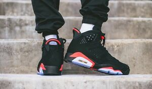Image is loading NIKE-AIR-JORDAN-6-RETRO-034-BLACK-INFRARED-