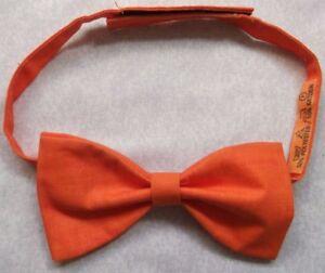 AgréAble Vintage Bow Tie Homme Dickie Nœud Papillon Réglable Orange Mandarine-afficher Le Titre D'origine