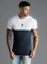 Gym-King-Mens-Short-Sleeve-Crew-Neck-Block-Panel-Taped-New-Slim-Fit-T-shirt-Tee thumbnail 9