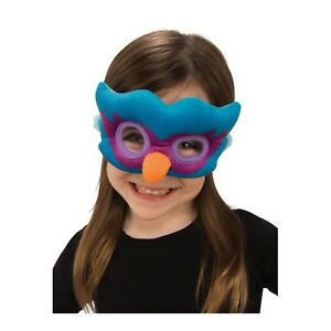 Child Boys Girls Plush Soft Animal Owl Peacock Bird Halloween Costume Eye Mask