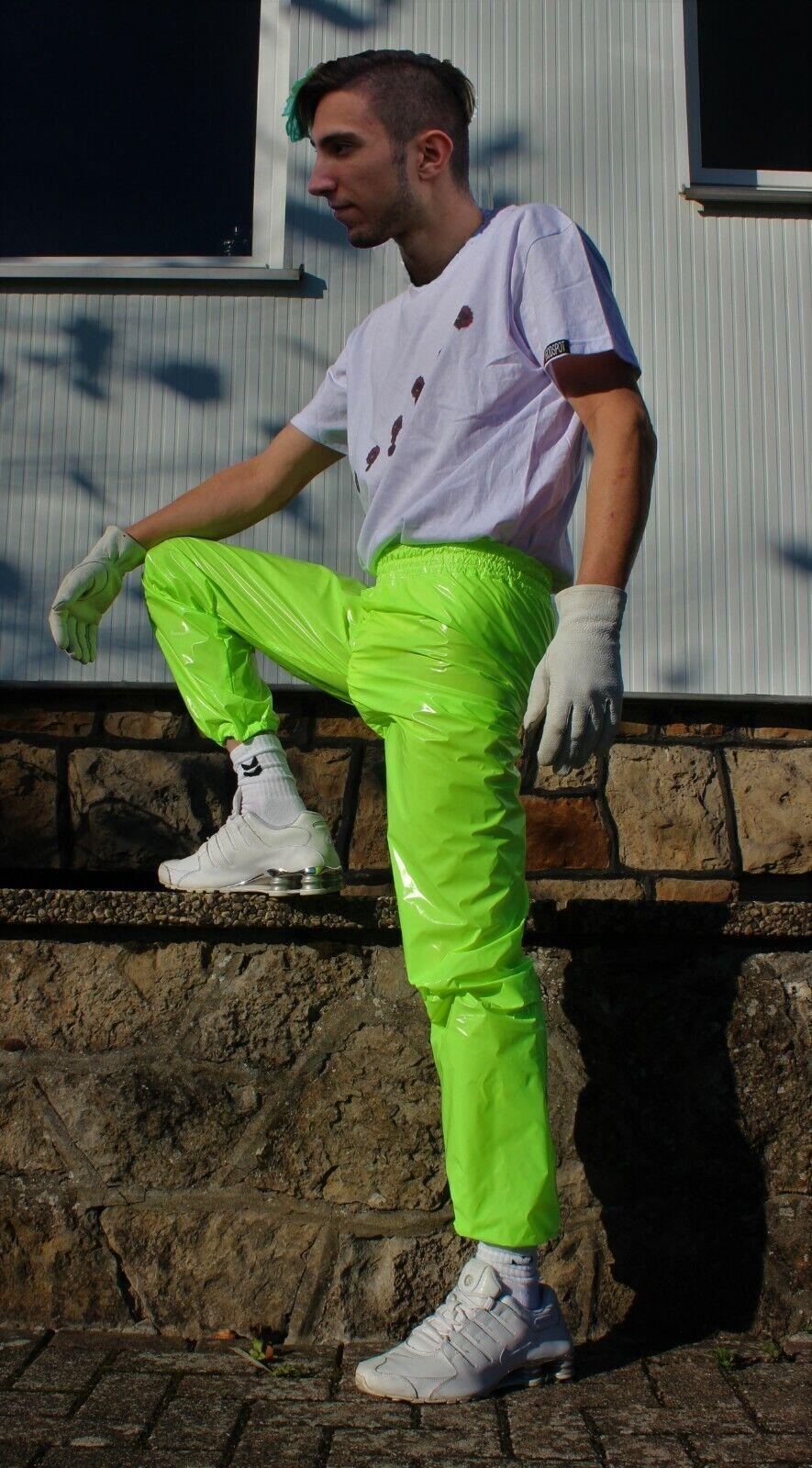 Rodspot lucentezza NYLON NYLON NYLON speculari VERNICE Pantaloni Pioggia Pantaloni Shiny NYLON PANTS 90e376