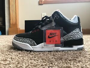 f12c74d334e801 Nike Men s Air Jordan 3 Retro OG Black Fire Red Cement Grey Size 7 ...