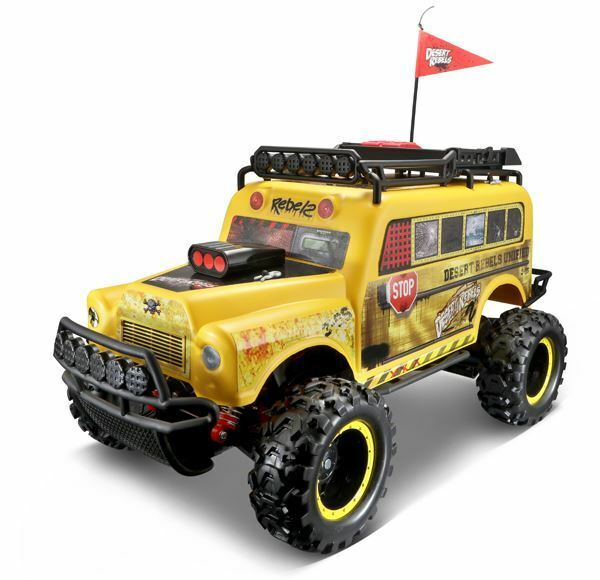 MAISTO 1 10 SCALE SCHOOL BUS - DESERT REBEL REMOTE CONTROL MODEL   BN   82077Y