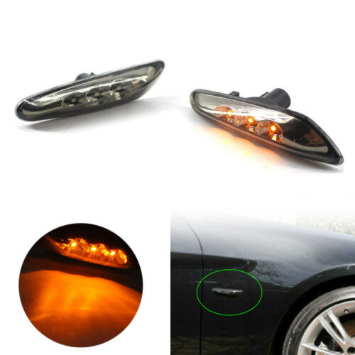 LED Black Side Marker Lights Turn Signal For BMW E60 E61 E82 E88 E90 E91 E92 E93