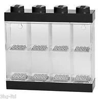 Lego Storage Display Case Small Black Stores 8 Mini Figures Minifigures New