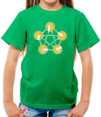 Youth Children Boy Girl Kids Hoody Rock Paper Scissors Lizard Spock T-Shirt Birthday Gift TV Big Bang Theory Sheldon Cooper Xmas