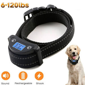 Rechargeble-LCD-Automatic-Anti-Bark-No-Barking-Tone-Shock-Dog-Training-Collar