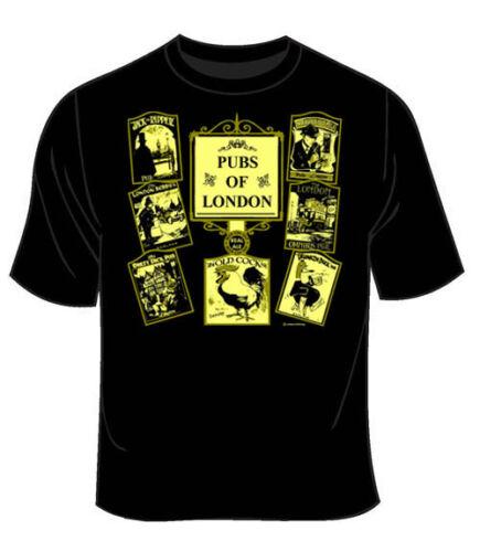 Shirt Mens Funny Pubs of London T shirt Adult T