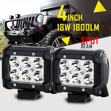 "2PCS 18W 4""inch Cree LED Work Light Bar Spot Beam Offroad Fog Lamp Flood 3/5/7"""