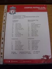 26/08/2012 Colour Teamsheet: Liverpool v Manchester City  . Thanks for viewing o