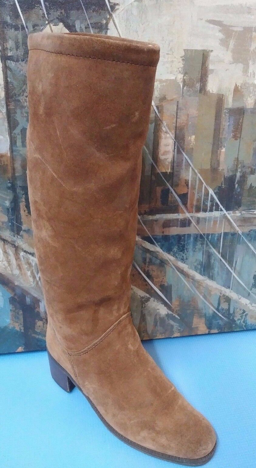 Vintage Womens Western STYLE WINTER Boots Brown  Sz 7