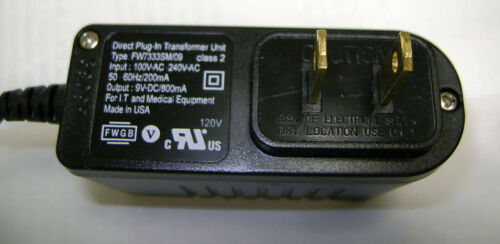 FRIWO Power Supply Medical LED ON 100-240 AC to 9VDC 800ma XFMER 1.3x 3.5x 9.5mm