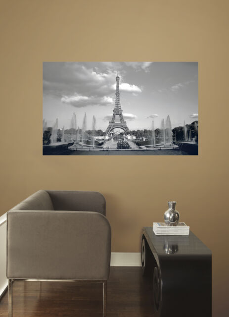 Eiffel Tower Wall Decal 3 X 5 L And Stick Mural Stickers Paris Decor New