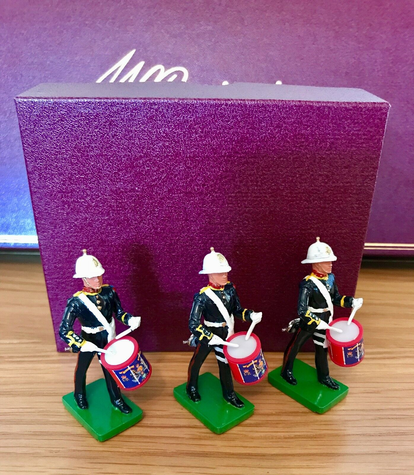 Britains Royal Marines Bugler Side Drummers (set2) - three models-  MIB