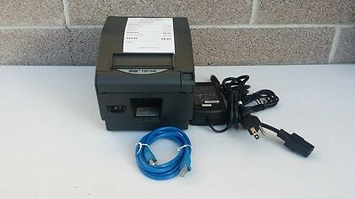 STAR TSP743II NETWORK  POS THERMAL RECEIPT PRINTER- FOR PAYPALHERE or SQUARE APP