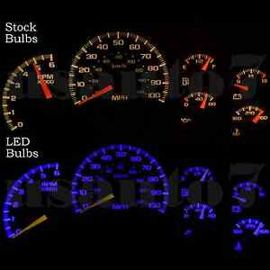 Image Is Loading Dash Cer Gauges Blue Smd Led Lights Kit