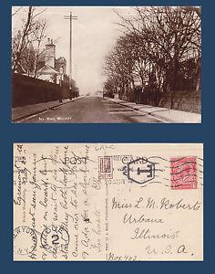 UK LANCASHIRE WALLASEY REAL PHOTO 1912 POSTAGE DUE MISS ROBERTS, URBANA ILLINOIS