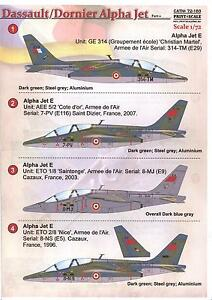 print scale decals 1 72 dornier dassault alpha jet french air force part 2 ebay. Black Bedroom Furniture Sets. Home Design Ideas